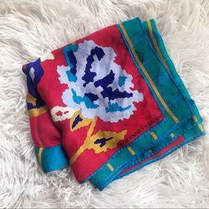 ADRIENNE VITTADINI red/blue/green digi-color scarf